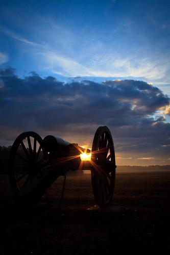 park sunrise civilwar cannon battlefield chickamauga