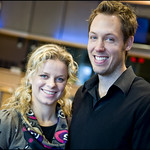 Kim Clijsters and Brian Lynch at European Parliament to promote childcare NGO
