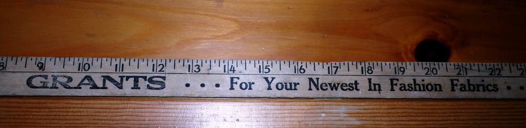 Old Yardstick Ruler | . Hangs on the wall for added decor ...