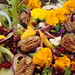 Pomegranate Mango Salad with Flowers and Candied Pecans by Vegan Feast Catering