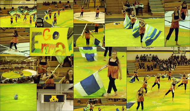 Emma Amity Winter Guard collage