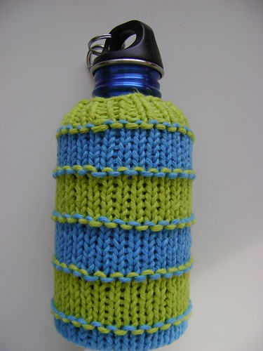 water bottle cover free pattern knit