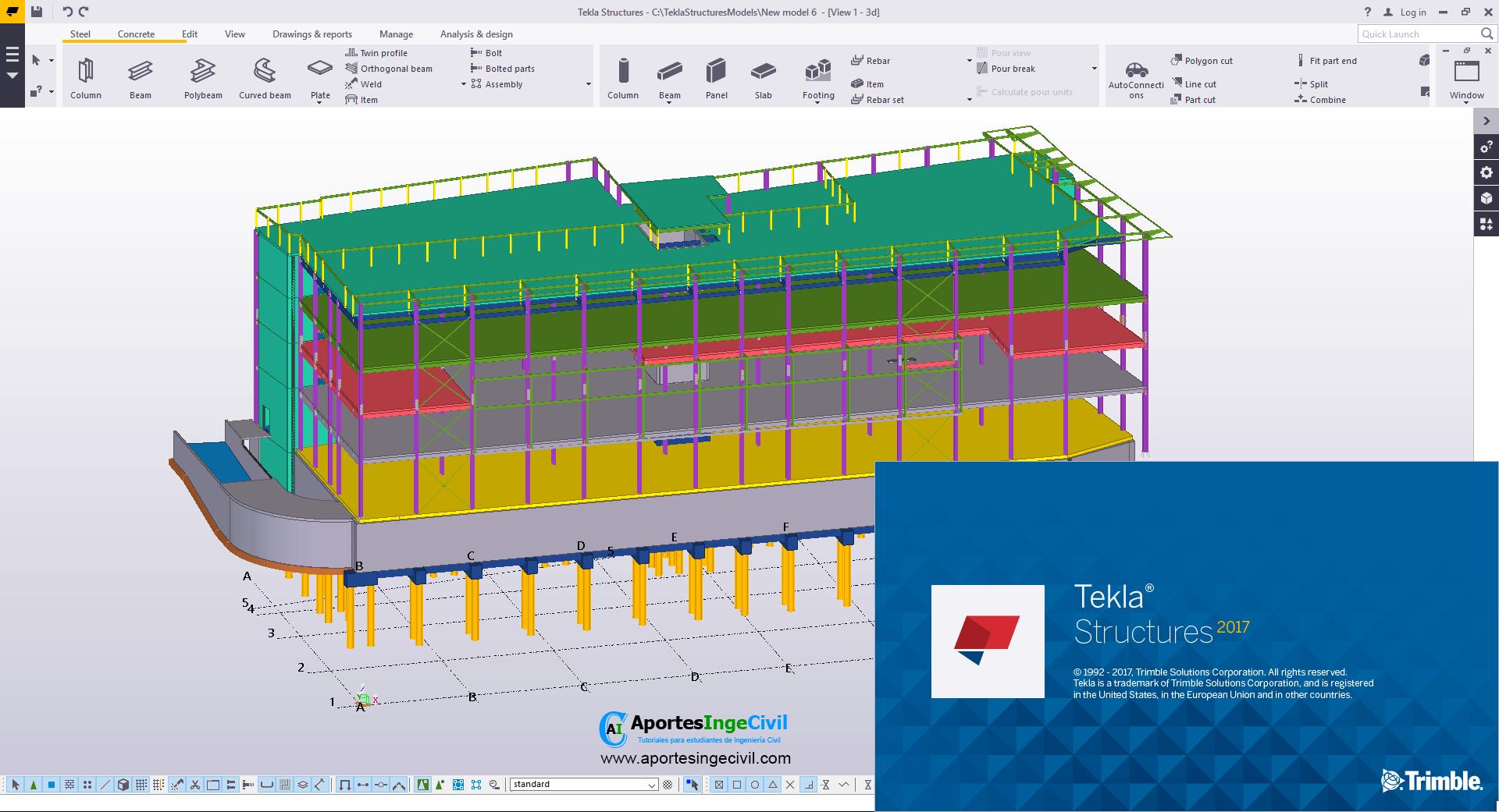 Design with Tekla Structures v2017 SP1 full
