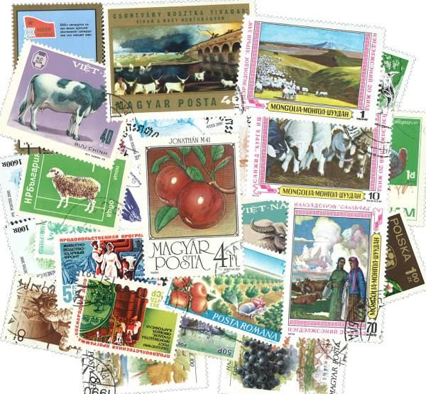 Známky 25 ks rôznych, poľnohospodárstvo
