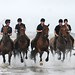 Kings Troop Royal Artillery Exercise Their Horses on Blackpool Beach