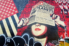 NYC - East Village: Bowery Mural - Shepard Fairey's May Day
