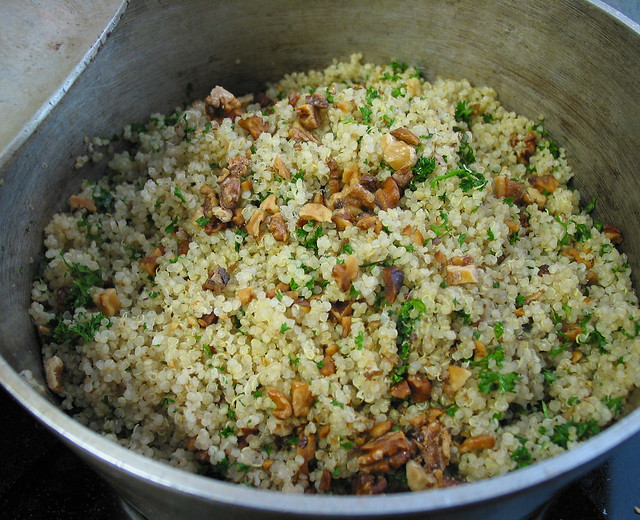 quinoa pilaf with roasted walnut | Flickr - Photo Sharing!
