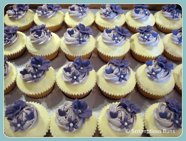 Lilac and Purple Wedding Cupcakes Vanilla sponge smothered with a blanket