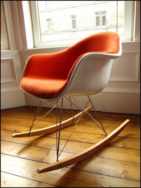 new eames rocking chair. Black Bedroom Furniture Sets. Home Design Ideas