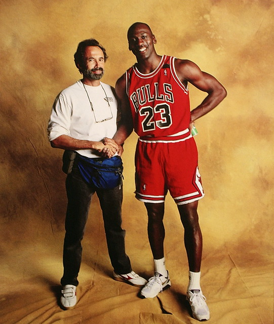 Walter Iooss and Michael Jordan, Chicago, Ill., 1991 ...