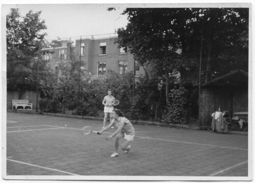 Ernst Casimir tennisbaan, ca, 1950