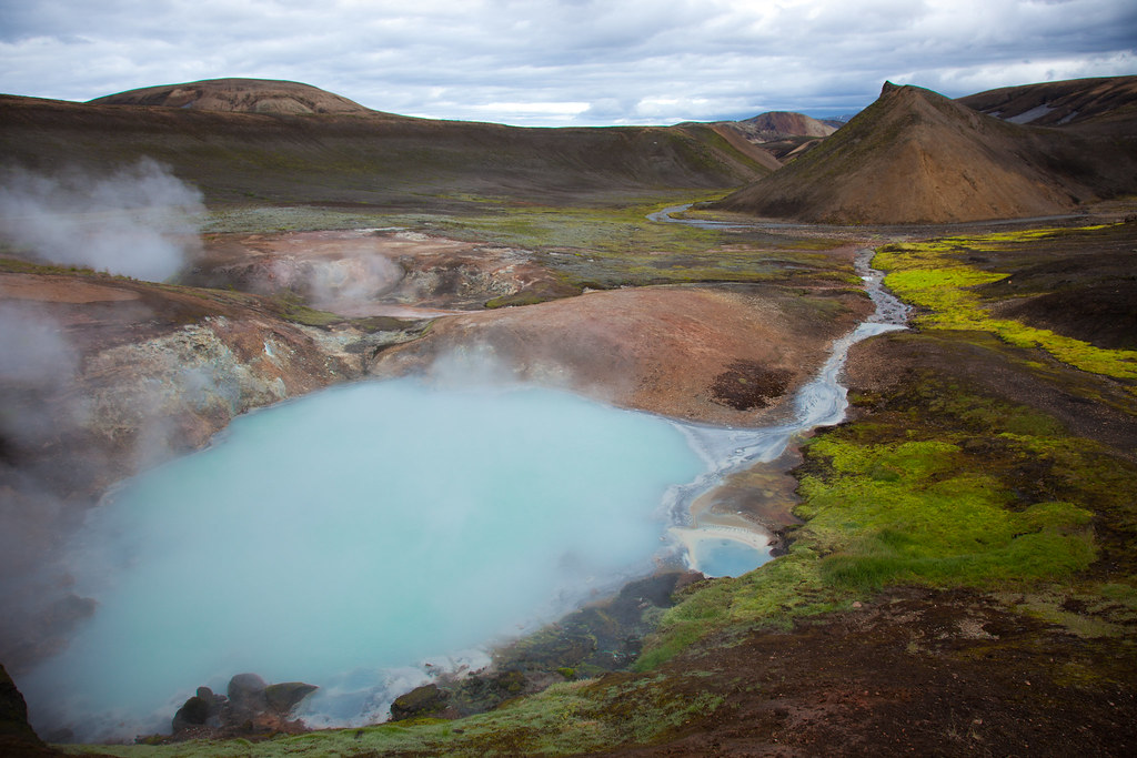 Bright Blue Volcanic pool
