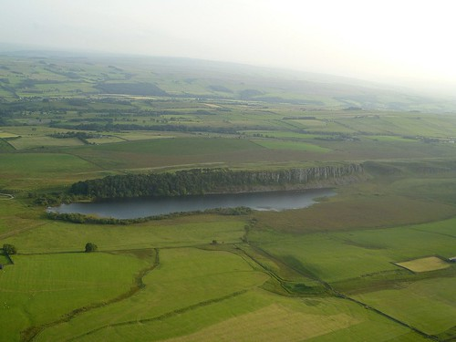 Crag Lough and Highshield Crag from the air