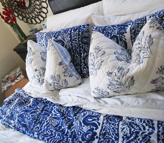Blue and white bedding www lovemaegan com by love maegan