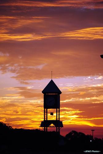 sky usa color clock nature colors beautiful sunrise georgia landscape landscapes nikon colorful scene clocktower scenes perryga houstoncounty d3000 photoscape nikond3000 ~jenophotos~