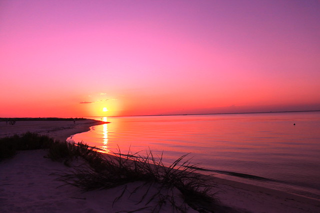 Beach Beautiful Pink Sunset