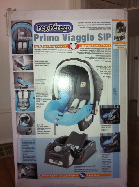 Peg Perego Primo Viaggio Convertible Car Seat Licorice