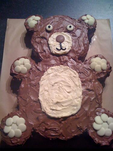 Gâteau d'anniversaire en forme de nounours