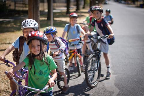 Bike Camp - Lining up