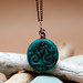 Polymer Clay Pendant by Doodlecats by Beth Wilson