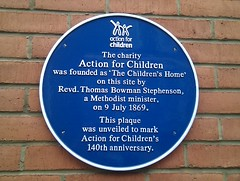 Photo of Action for Children and Thomas Bowman Stephenson blue plaque
