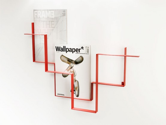 Modern wall mounted magazine racks flickr photo sharing for Magazine holder wall mount for bathrooms