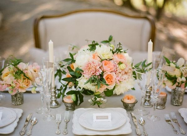 French Table Setting-Joy de Vivre Wedding-Style Me Pretty-Camille Styles Events