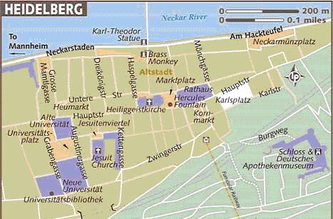 mapa heidelberg
