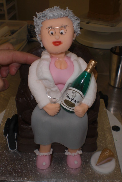 Old Lady Knitting Cake Topper : Pin old lady knitting cake culinary arts on
