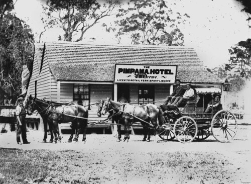 photographer queensland hotels taverns statelibraryofqueensland stagecoaches slq williamboag