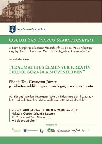 Dr. Gerevich József: Traumatikus élmények kreatív feldolgo zása a művészetben