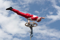 75 year old Clive Lotah, performing his Sway Pole Routine at the Perth Royal Show