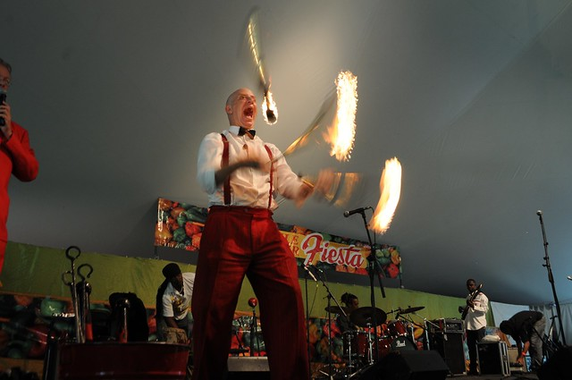 Fire juggling at Chile Pepper Fiesta! Photo by Michael Ratliff.