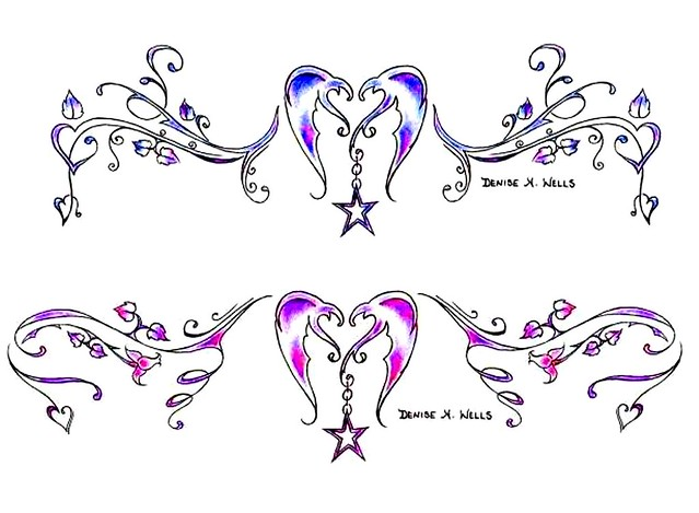 heartstar tattoo designs by denise a wells flickr photo sharing. Black Bedroom Furniture Sets. Home Design Ideas