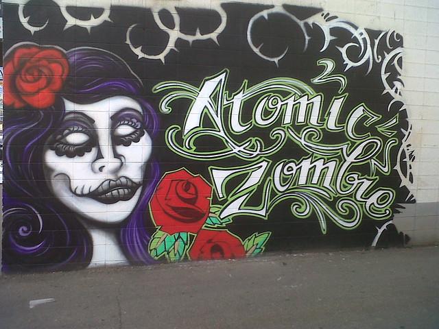 Atomic zombie mural flickr photo sharing for Zombie tattoo machine