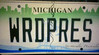 WordPress License Plate