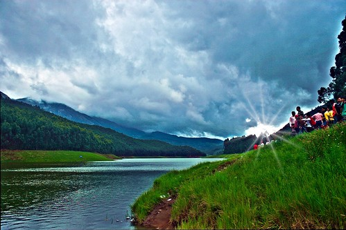 sky sun lake mountains clouds landscape happy star heaven