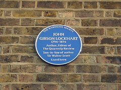 Photo of John Gibson Lockhart blue plaque
