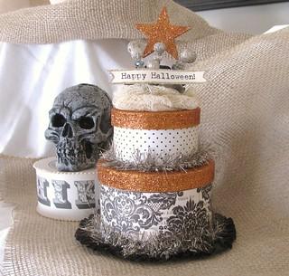 Halloween double layer cake box.......