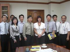 2010年3月份-金色山莊安排Wintec海外部主任至台灣參訪