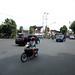 Jalanan yang sibuk di Jl. Gajah Mada. : Congestion on Gajah Mada Street. Photo by Ardian