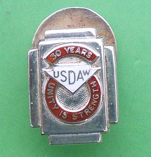 Union of Shop, Distributive & Allied Trades (USDAW) 30 Year membership badge