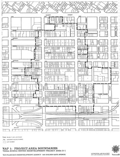 Yerba Buena Center: Project area boundaries (1965)