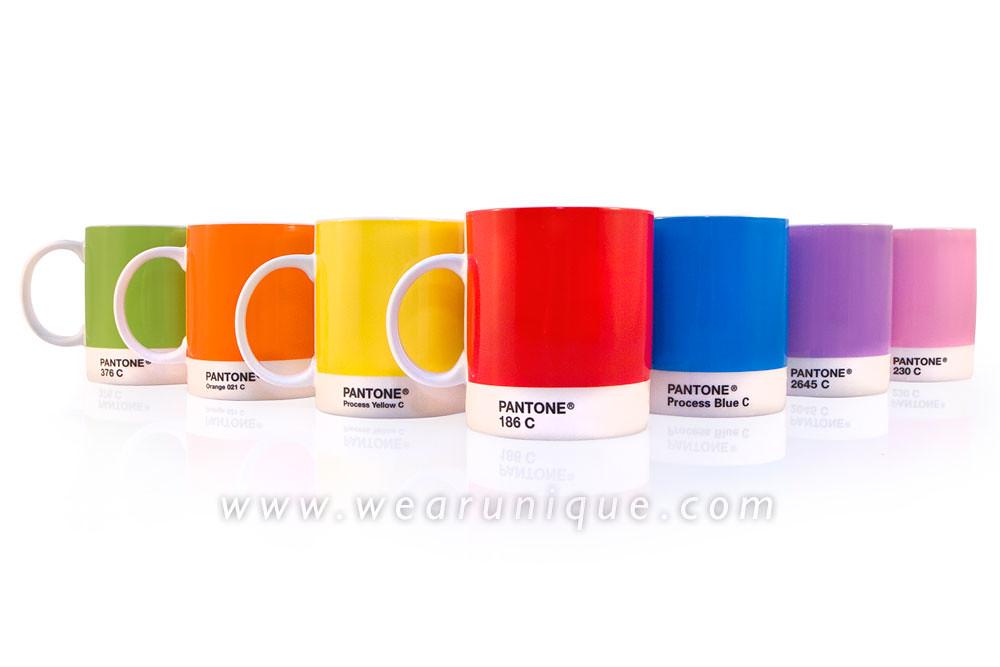 Pantone Mugs 2011 Pantone Rainbow Coloured Mugs