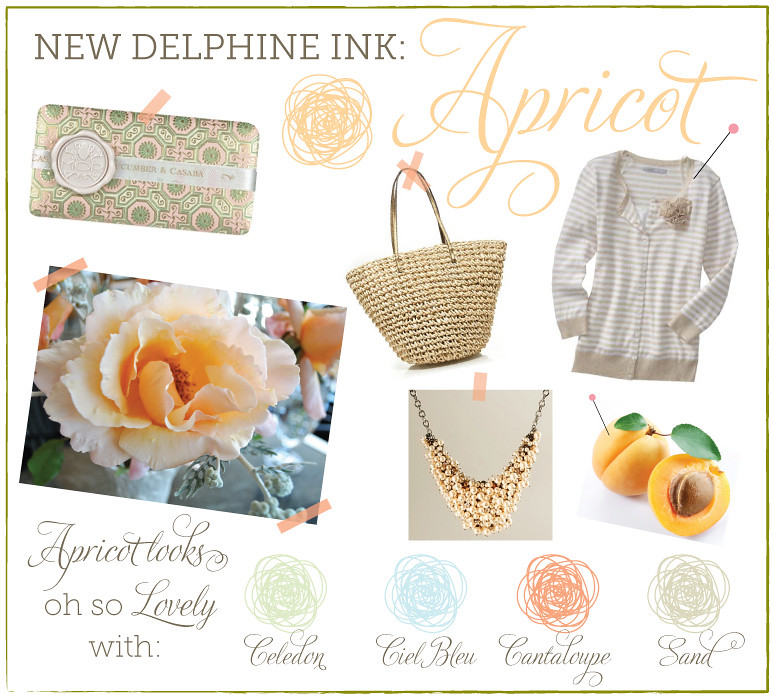 colorpalette-apricot | My favorite new Delphine ink color is
