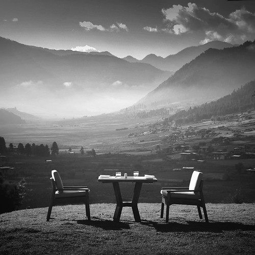 morning white mist mountain black nature beauty fog breakfast sunrise square table landscape village bhutan chairs hills highland huge layers exclusive emotive lavish