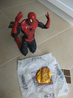 Spider-Man is not happy with the KFC Double Down