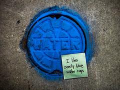 I like overly blue water caps