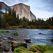 Evening light on El Capitan from Valley View, Yosemite National Park by Robin Black Photography