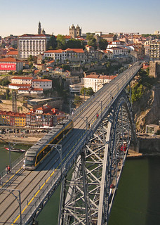 Portugal - Porto - View of Ponte Luis I from above